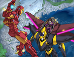Commission: Lelouch vs IronMan by FoxxFireArt