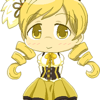 FREE - Bouncy Chibi Mami Pixel by RANDOM-drawer357