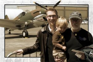 3 Generations with a Shark Plane by pastorgavin