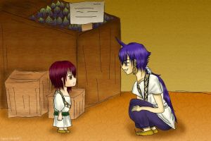 Magi: Sinbad and Kouhato's First Meeting by aqua-violet97