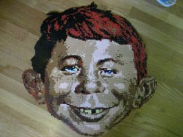Perler Alfred E. Neuman DONE by Queoh