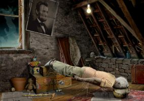 Grandma Planking in the Attic by funkwood