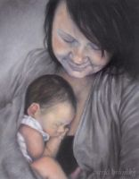Sally and Eli - PASTEL by AstridBruning