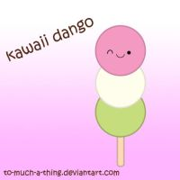 kawaii dango by to-much-a-thing