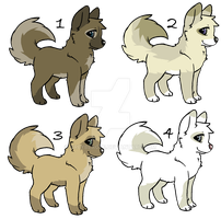 Adoptables puppies - (Closed) by ArticWolf14