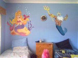 The Little Mermaid Mural by JustinMain