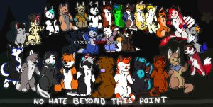 no hate beyond this point by Reddywolf