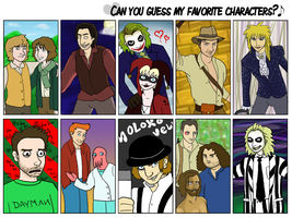 Favorite Characters Meme by Puddum