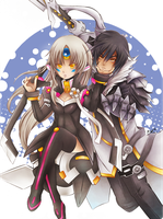 Elsword: Eve and Raven by brimochi