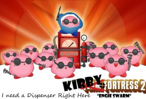 Kirby TF2 Engineer swarm by j3nNj3nNy