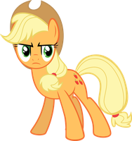 Serious Applejack by fox1047