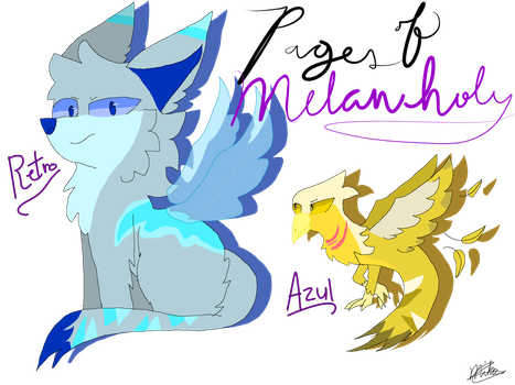 Retro and Azul (Pages of Melancholy) by PapyDreemurr