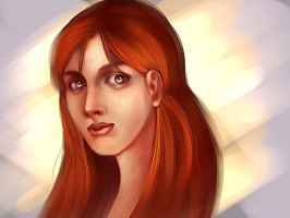 Red head girl portrait retake by victter-le-fou