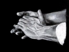 White charcoal hands by suburbansuicide