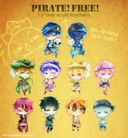 Free pirate 1.5 in clear acrylic charms by Evil-usagi