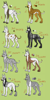 Dog pointable batch 3 -ONLY ONE LEFT- by RanAdopts