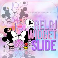 SKIN RELOJ CUTTIE MICKEY Y MINNIE SLIDE - xWidget by JoyJoyJoChi