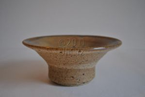Meloy Tan and Gold Gloss Bowl by jac12