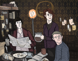 Meanwhile at 221B by Oranjes