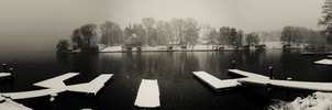 The lake in winter. by The-Satchmoe