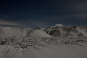 Icelandic Mountains at Night by StewartSteve