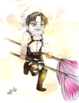 Levi-heichou's cleaning mode by Aevspeare