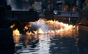 Water on fire 1 by bdec