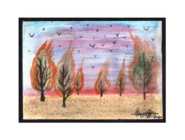 The trees, The Birds,The Fire by Pascalism