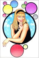 gwen stacy colour pencils by petervale