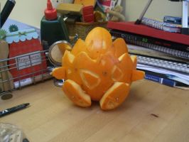 Togepi Pokemon pumpkin by EleanorAnsell