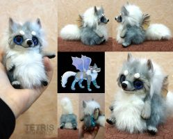 Wolf with wings mini toy [by char] by KrafiCat