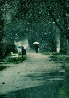 Snowing in March by PancolartJorge
