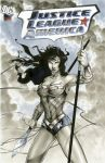 Wonder Woman JLA Sketch Cover by RichardCox