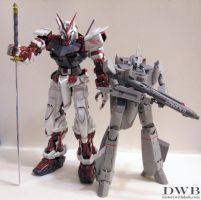 Astray Red Gundam and VF-0A by Bang-Doll-SSI