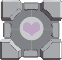 Companion Cube by LargeCommander