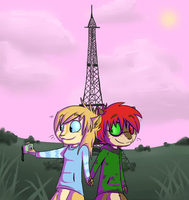 Zeke and Wendy in le Paris by Nawiz