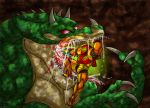 Metroid-Kraid's Gluttony by Inkblot-Rabbit