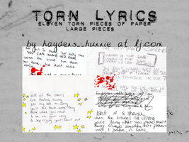 TORNLYRICS. by haydens-hunnie
