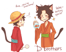 D brothers at matsuri by Aritsune-chan