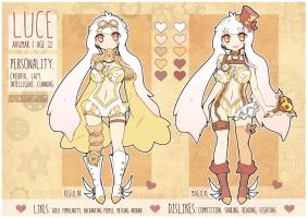 Luce: new ref sheet by Kimmymanga