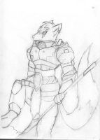 Wolf- Warrior :sketch: by ICEFIRE900