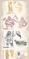 Character Concepts - Journey To The West by cigar-blues