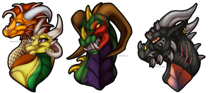 Commission : Durgin Busts by WeirdHyenas