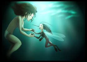 selkie and the skeetling by Myth-Dragon