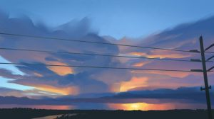 Sunset Over a Storm Cloud by vermilionalice