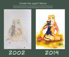 Usagi and Luna /before-after/ by nakoval-nya