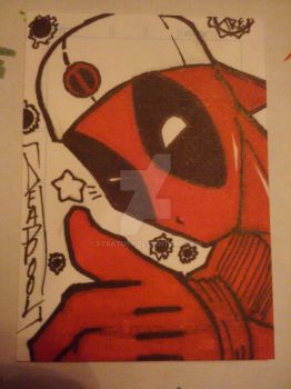 Deadpool Sketch Card by StratusX