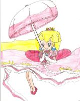 Peach with a Parasol Colored by Aquateen510