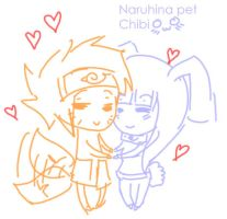 naruhina pet chibi by malengil