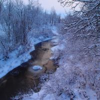 Swedish winter creek by BeironAndersson
